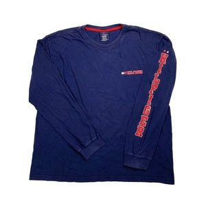 Tommy Hilfiger Blue Long Sleeve Graphic Tee Shirt
